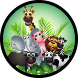 Funny animal cartoon collection Royalty Free Stock Photo