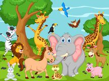 Funny animal cartoon Royalty Free Stock Image
