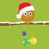 Funny animal with christmas balls on the snow vector Stock Image