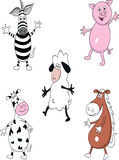 Funny animal collection Stock Photos