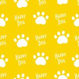 Funny animal pattern with dog trail paws. Ornament for textile and wrapping. Vector Royalty Free Stock Photos