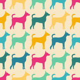 Funny animal seamless vector pattern of dog Stock Image