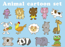 Funny Animal Vector illustration vector Set Stock Photos