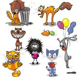 Funny animals (1). Isolated objects over any background. Vector Royalty Free Stock Photos