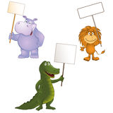 Funny animals. Group of funny little animals. vector illustration Royalty Free Stock Photos
