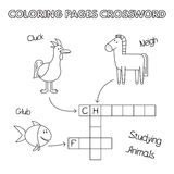 Funny Animals Coloring Book Crossword Royalty Free Stock Photo