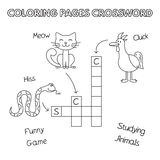 Funny Animals Coloring Book Crossword Royalty Free Stock Photography