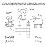 Funny Animals Coloring Book Crossword Royalty Free Stock Image