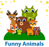 Funny Animals Editable vector template. Stock Image