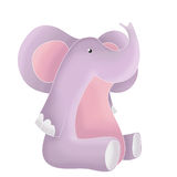 Funny animals - pink elephant. Funny cartoon animal - pink elephant Stock Images