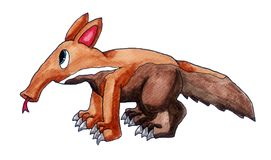 Funny Ant Eater royalty free illustration