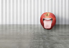 Funny apple Royalty Free Stock Image
