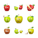 Funny apples Stock Photos