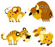 Funny applique chinese horoscope Royalty Free Stock Images
