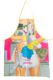 Funny  apron isolated on white Stock Image