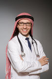 Funny arab doctor Stock Photography