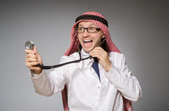 Funny arab doctor Royalty Free Stock Photography