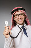 Funny arab doctor Stock Images