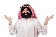 Funny arab man Royalty Free Stock Photos