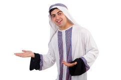 Funny arab man isolated Royalty Free Stock Photo