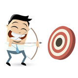 Funny archery cartoon man Stock Photography