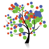 Funny art tree for your design Royalty Free Stock Image