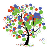 Funny art tree for your design Stock Photo