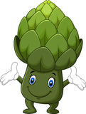Funny artichoke cartoon isolated on white background Royalty Free Stock Photo
