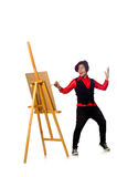 The funny artist isolated on white Royalty Free Stock Photography