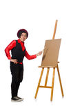 The funny artist isolated on white Stock Photos