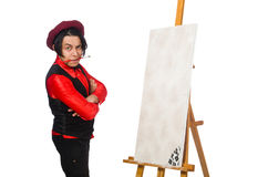 The funny artist isolated on white Royalty Free Stock Image
