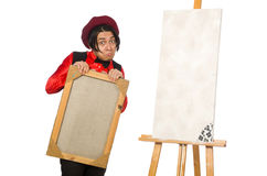 Funny artist isolated on white Stock Photos