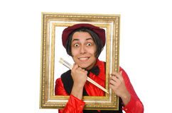 Funny artist isolated on white Royalty Free Stock Image
