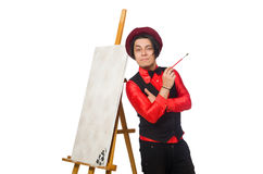 Funny artist isolated on white Royalty Free Stock Images
