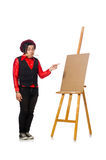 The funny artist  on white Stock Image