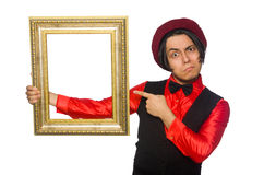 Funny artist on white Stock Images