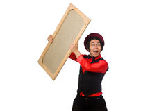 Funny artist on white Royalty Free Stock Photography