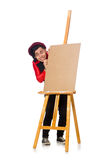 The funny artist on white Royalty Free Stock Photo
