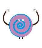 Funny сartoon candy waving on a white background vector illustr Royalty Free Stock Images