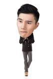 Funny Asian big head man Stock Photography