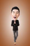 Funny Asian big head man Royalty Free Stock Photos