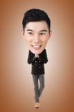 Funny Asian big head man Royalty Free Stock Photography