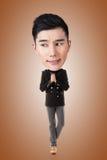 Funny Asian big head man Stock Photos