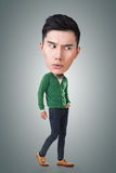 Funny Asian big head man Royalty Free Stock Images