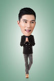 Funny Asian big head man Royalty Free Stock Photo