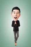 Funny Asian big head man Royalty Free Stock Photos