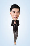 Funny Asian big head man Stock Image