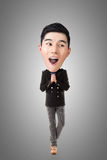 Funny Asian big head man Stock Images