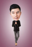 Funny Asian big head man Royalty Free Stock Image