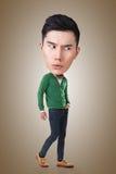 Funny Asian big head man Stock Images